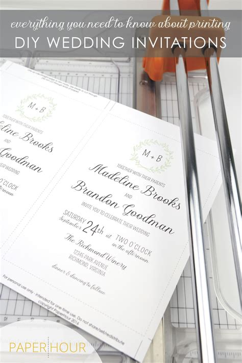 how to print diy wedding invitations everything you need