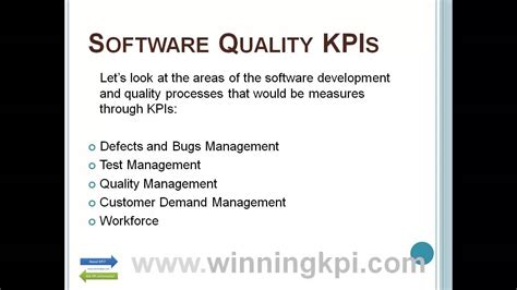 software quality kpis  youtube