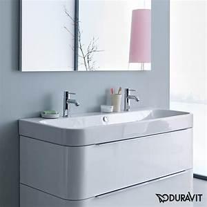 Duravit Happy D : duravit happy d 2 double vanity washbasin white with wondergliss 23181200241 reuter shop ~ Orissabook.com Haus und Dekorationen