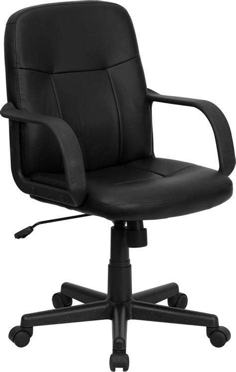 Office Chairs Vinyl Covering by Mid Back Black Glove Vinyl Executive Swivel Office Chair