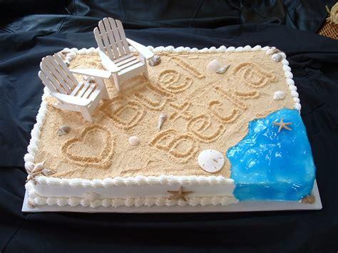 Beach Theme Bridal Shower Cake Cakecentralcom