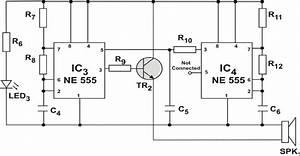 Circuit Diagram Of The Alarm Unit