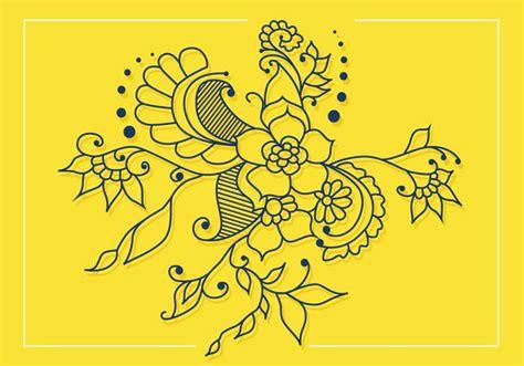 henna vector design free vector stock graphics