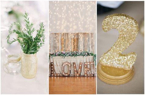 glam wedding decor 14 diy glitter wedding ideas style