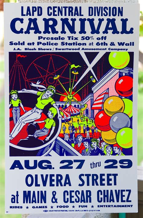 letterpress  silkscreen carnival poster  colby poster