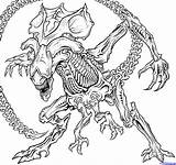Alien Draw Queen Drawing Xenomorph Coloring Pages Step Predator Vs Printable Aliens Head Drawings Dragoart Sheet Tattoo Sketch Monster Print sketch template