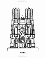 Coloring Gothic Cathedrals Heart Famous Churches Europe Hands Church Books sketch template