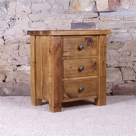 acorn kitchen cabinets solid wood chunky three drawer bedside table by h f 1151