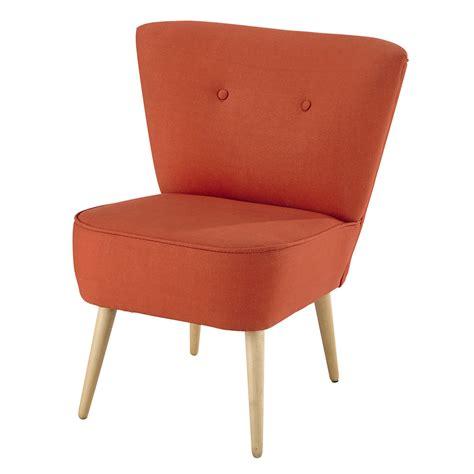 fauteuil vintage en coton corail scandinave maisons du monde