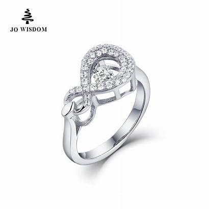 Rings Infinity Silver Engagement Dancing Jewelry Natural