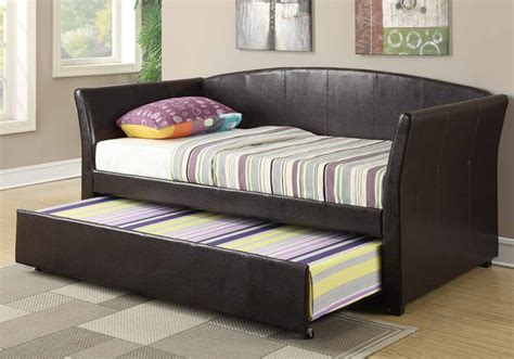 30355 furniture trundle bed modernday modern guest daybed day bed sleepover size w trundle
