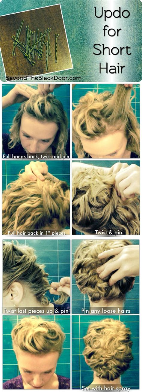 short hair tutorials ideas  pinterest easy