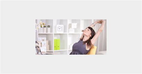 exercices au bureau antigym 4 exercices faciles pour déstresser au bureau