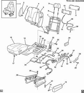12549919 Seat Frame For 1996 Chevrolet Tahoe