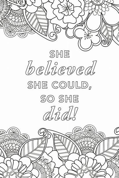 Coloring Pages Adult She Could Believed Animal