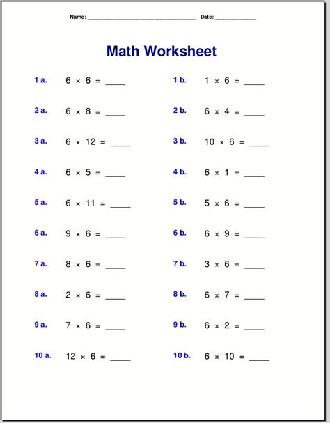 times table worksheets activity shelter