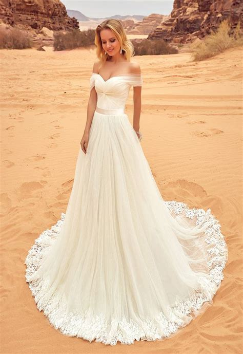 Ivory Wedding Dresslace Wedding Dressesoff Shoulder
