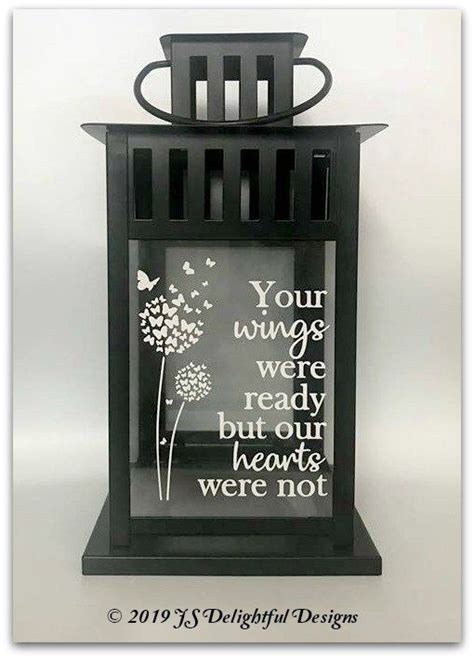 sympathy gift  wings  ready memory candle