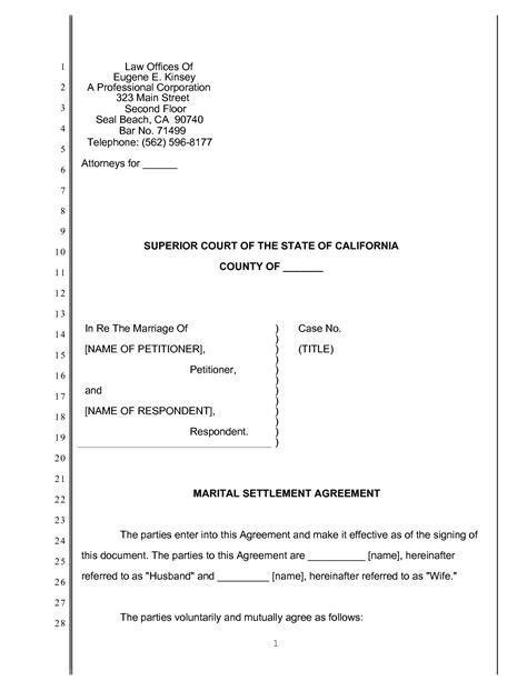 court pleading templates