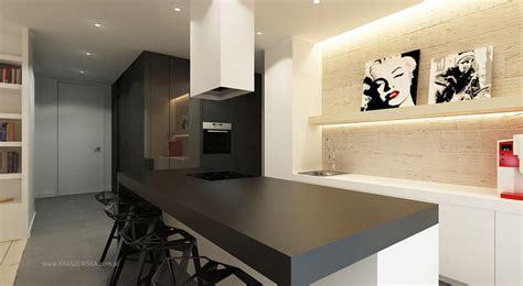 black kitchen worktop interior design ideas