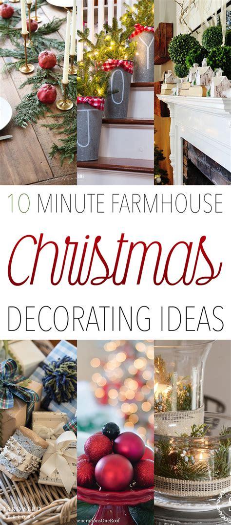 minute farmhouse christmas decorating ideas
