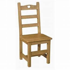 chaise coeur en pin assise bois achat vente chaise With meuble salle À manger avec chaises de cuisine en bois pas cher