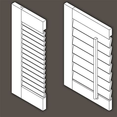 Louvered Cabinet Door / Wood Shutter Specifications and