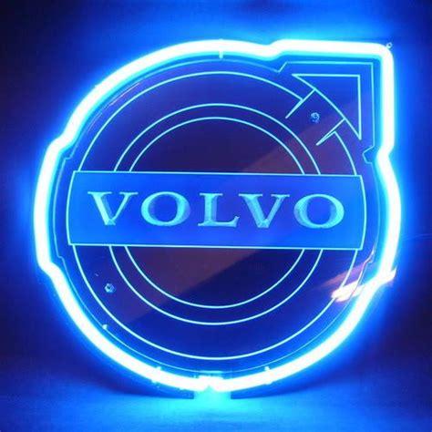 volvo logo  blue arrow neon bar mancave sign volvo