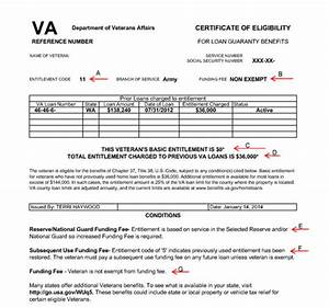 Va certificate of eligibility sample image collections for Va home loan qualification letter