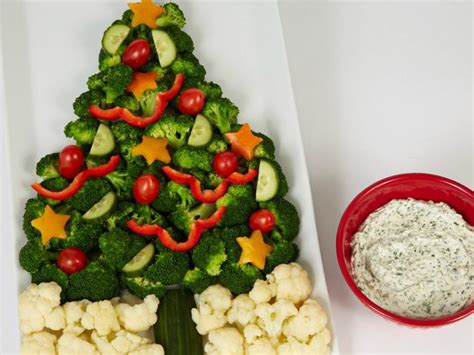 christmas tree saver recipe crudite tree with sour and chive dip recipe food network kitchen food network