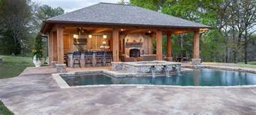 house plans with pools and outdoor kitchens pool house designs outdoor solutions jackson ms