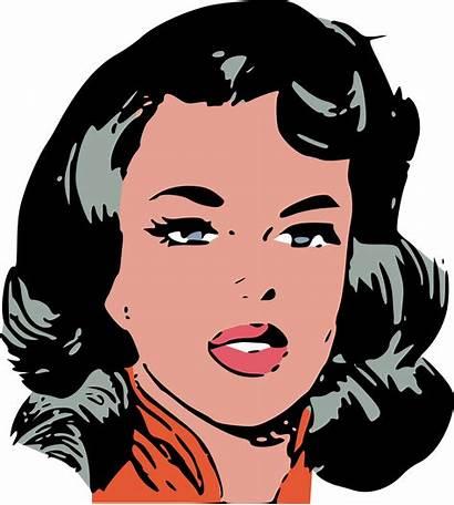Face Clipart Woman Female Comic Comics Clip