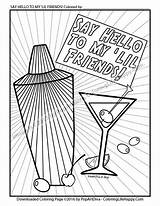 Coloring Pages Cocktail Adult Printable Martini Cobbler Soybean Luther Martin King Shaker Drawing Etsy Colouring Getdrawings Getcolorings sketch template
