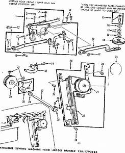 Kenmore 1581792183 Mechanical Sewing Machine Parts