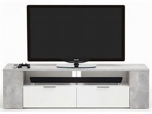Meuble Tv 180 : meuble tv bas poser 180 cm tabor chez conforama ~ Teatrodelosmanantiales.com Idées de Décoration