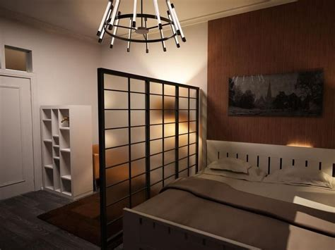 Japanese Style Studio Apartment Interiors. Note the use of