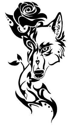 Tribal Wolf Tattoo | Tribal wolf tattoo, Tribal drawings, Wolf tattoos