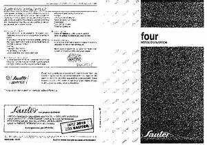 Notice Four Sauter : notice four sauter 1412mt et pi ces d tach es thermostat grille moteur joint porte resistance ~ Dallasstarsshop.com Idées de Décoration