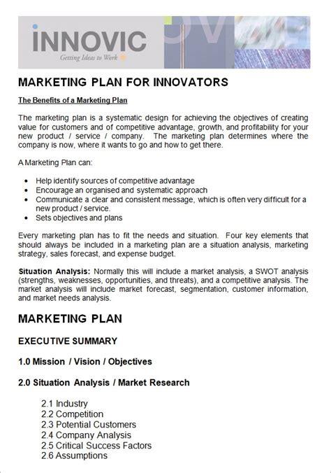 marketing plan templates