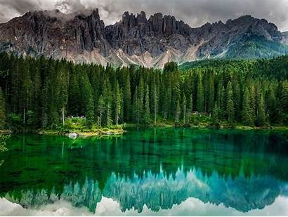 Nature Forest Landscape Calm Emerald Mountains Trees