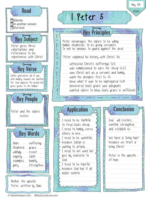 This Key Worksheet Can Be Used For A Bible Chapter Or Passage Document Key People, Key Subject