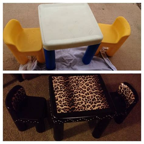 diy  tykes table turn  ordinary table  chairs