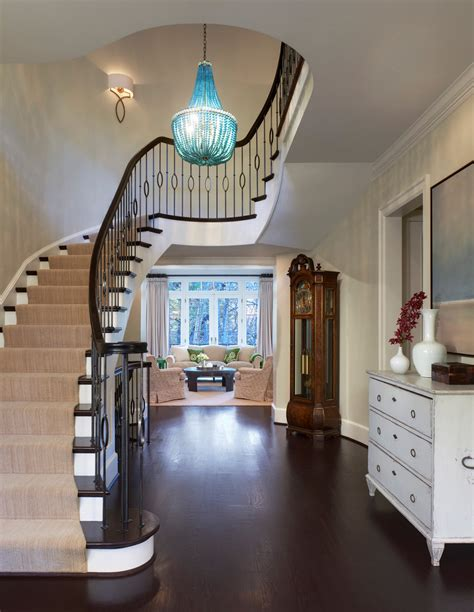 gorgeous foyer chandeliers in staircase traditional with