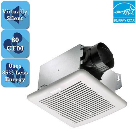 Home Depot Bathroom Exhaust Fan by Delta Breez Greenbuilder Series 80 Cfm Ceiling Bathroom