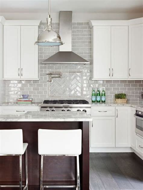 grey backsplash tile kraus designs llc white cabinets gray 1481