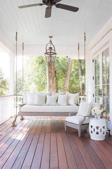 composite porch swing blue beadboard porch ceiling design ideas