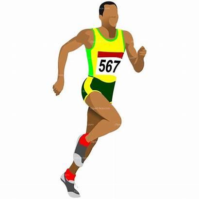 Clipart Running Athlete Run Dance 100m Clip
