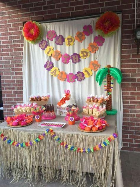 hawaiian luau birthday party   party ideas