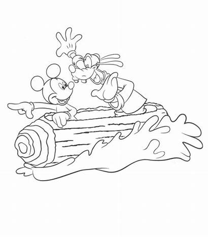 Coloring Disney Pages Parks Park Theme Attractions
