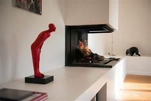 Cheminée à Foyer Ouvert : cheminee foyer ouvert design ~ Premium-room.com Idées de Décoration